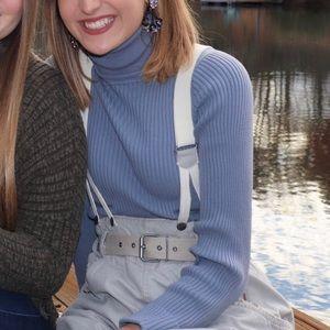 Michael Kors Blue Turtleneck Sweater